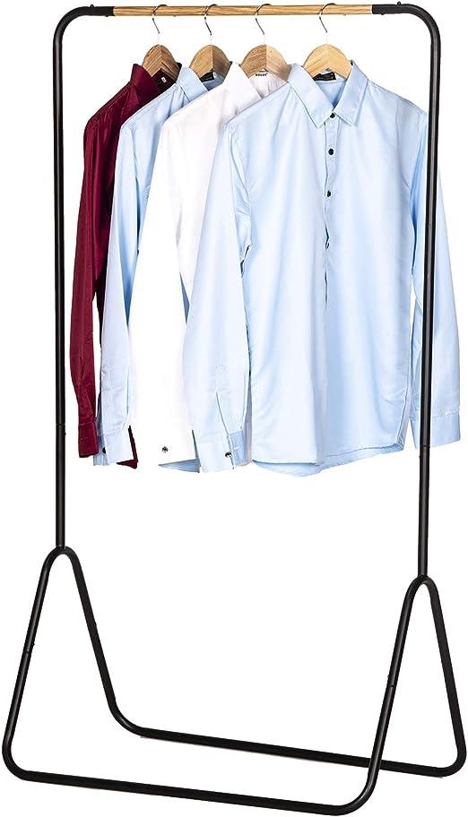 WOLTU Kleiderst/änder Garderobenst/änder Kleiderstange Metall SR0076sz BxTxH 79x43x145cm ca Schwarz