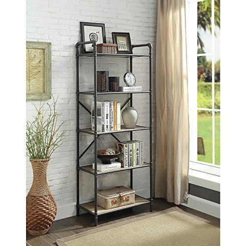 Major-Q 7097164 Industrial Style 5 Tier Shelf for