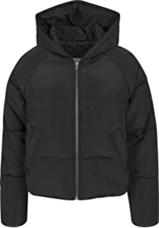 Urban Classics Damen Winterjacke Ladies Hooded Puffer Jacket