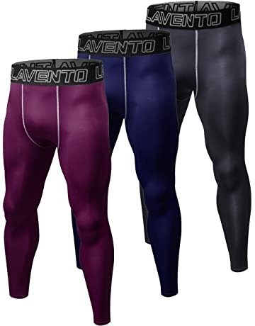 393d94a185299 Lavento Men's Compression Pants Cool Dry Workout Tights