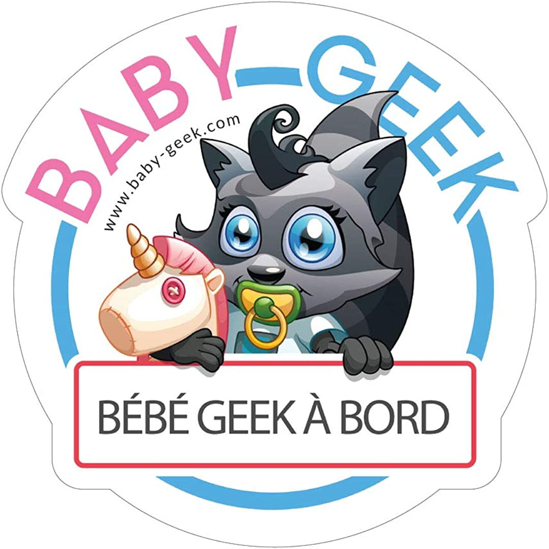 - Body B/éb/é Manches Courtes Baby Geek Futur DPS comme Papa Coton Blanc Version gar/çon Coutures Grises