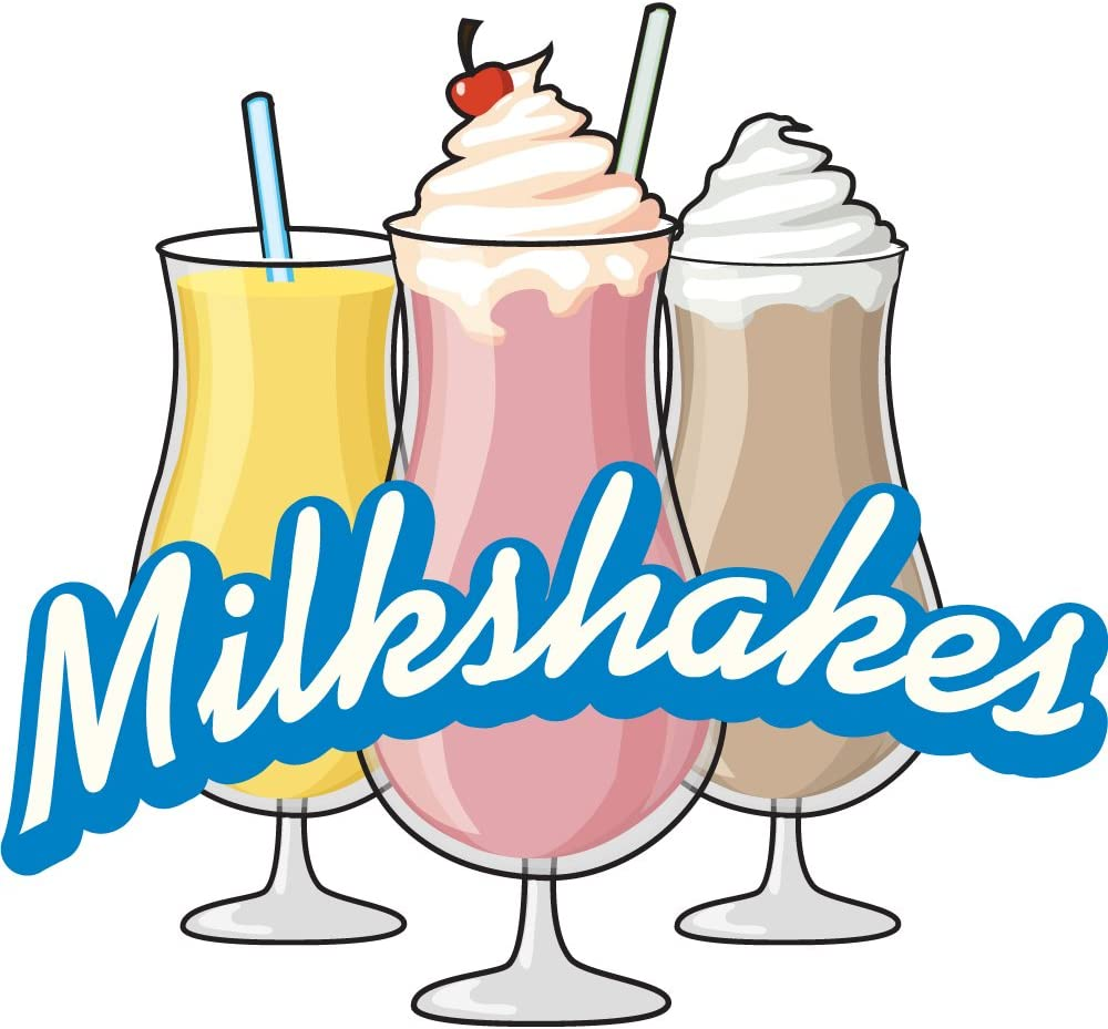 Milkshakes 24 Concession Decal Sign cart Trailer Stand Sticker Equipment