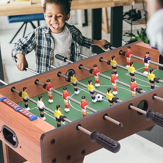 WEIFIY Tabla De Futbolín De Madera Fácilmente Montar El Juego De Fútbol Compacto Mini Portátil Mini Balones De Fútbol Tabla Cubierta Conjunto De Fútbol para Niños: Amazon.es: Hogar
