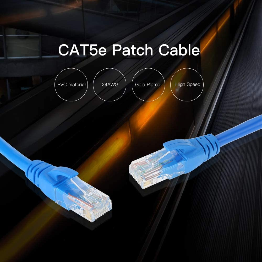Cable Length: 30m ShineBear 20m 30m Long Network Patch Cable 98FT Cat5e 550MHz 10Gbps RJ45 Computer Networking Cord WLAN Cables for Laptop Desktop MacBook