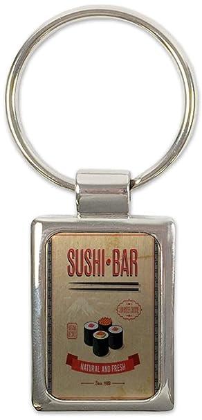 Llavero Aventurero Barra de sushi impreso: Amazon.es: Coche ...