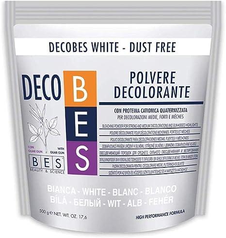 DECOBES DECOLORANTE WHITE CON GOMA GUAR 500 GR.: Amazon.es ...