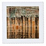 3dRose Danita Delimont - Abstracts - Usa, Utah. Colorful abstract reflections off canyon seep wall. - 22x22 inch quilt square (qs_260232_9)