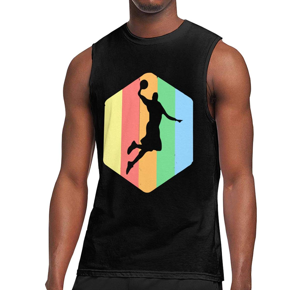 Comfortable 100/% Cotton Waistcoat for Mens Au68pI@l Mens Basketball Tank Top