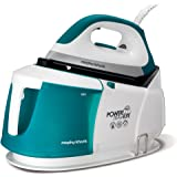 Morphy Richards 332014 Power Steam Elite Steam Generator with Auto Clean and Safety Lock 332014 Steam Generator Iron Green/White