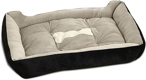 PETCUTE Camas para Perros medianos Cama de Perro Reforzada Cama Perro pequeño Lavable Colchón Cama para Gatos Cojín Negro: Amazon.es: Productos para mascotas