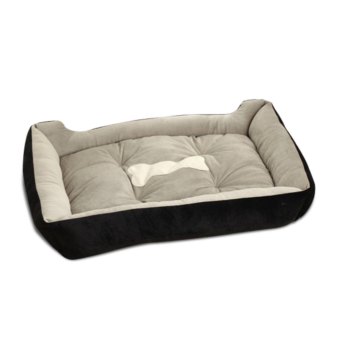 PETCUTE Dog Bed Faux Sheepskin Lining,dog winter bolster bed dog cushion Fully Washable, 6Sizes, Cat Bed, Pet Beds