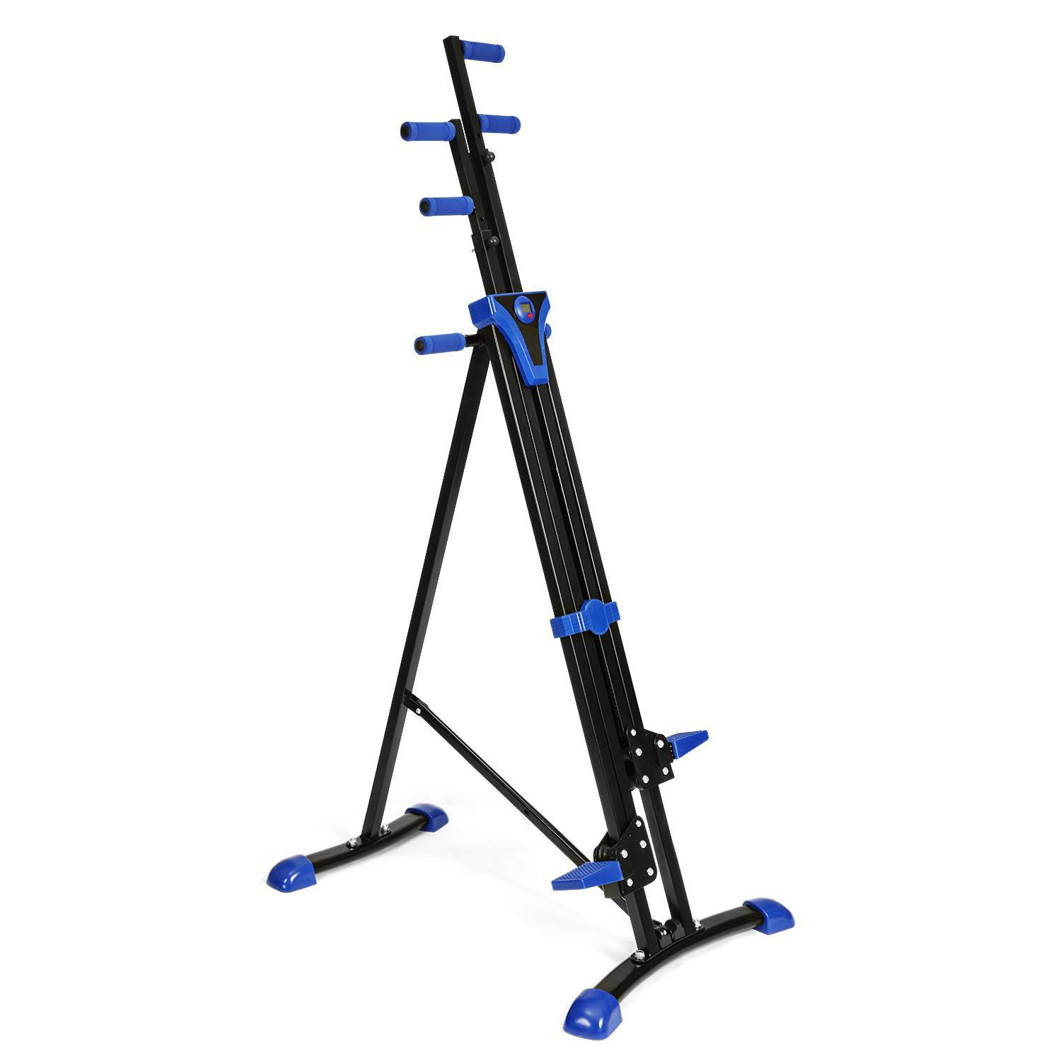 Vertical Mountain Climber Exercise Machine, 2 In 1 Foldable Vertical Stair Step Climber Stepper Exercise Fitness Climbing Machine by Evokem (Image #8)