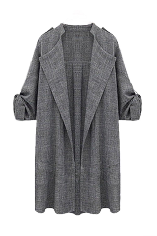 Women Casual Plus Size Loose Open Front Cardigans Blazer Outerwear Coats CAMEG541