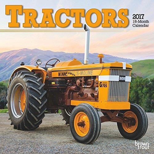 Tractors 2017 Small Wall Calendar