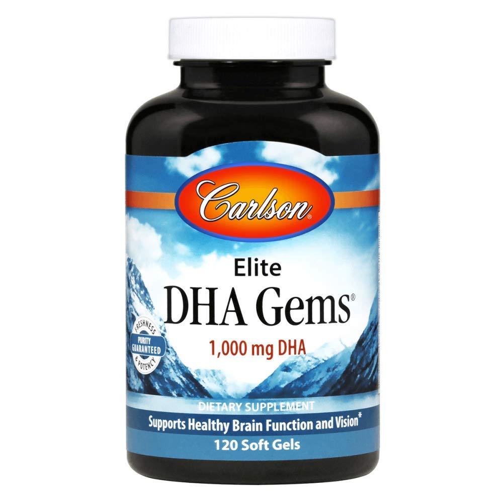 Carlson Laboratories Elite DHA Gems, 120 Count