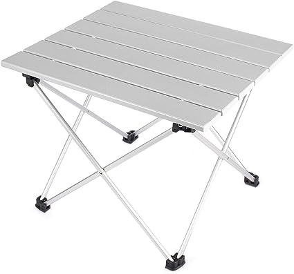 Mini Blanco Portatiles Plegable Mesa para Camping en Aluminio con ...