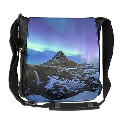 Aurora Borealis Fashion Print Diagonal Single Shoulder Bag best