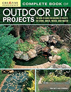 Book Cover: Complete Book of Outdoor DIY Projects: The How-To Guide for Building 35 Projects in Stone, Brick, Wood, and Water