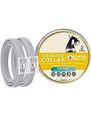 2 Pcs/lot Pet Natural Essential Oils Collar for Controlling Flea, Dogs Safe Friendly Necklace Pest Treatment Solution Accessories