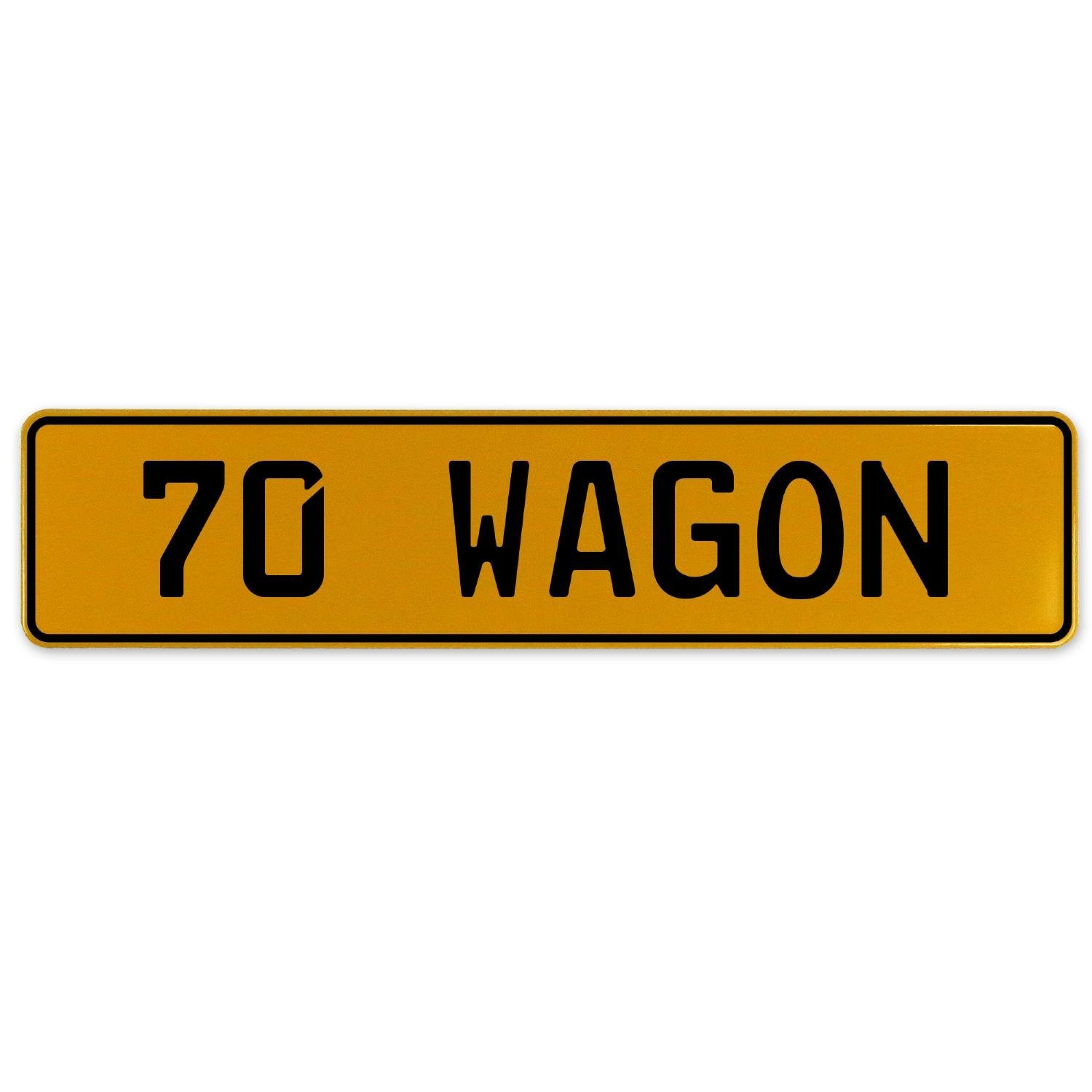 Vintage Parts 563281 70 Wagon Yellow Stamped Aluminum European Plate