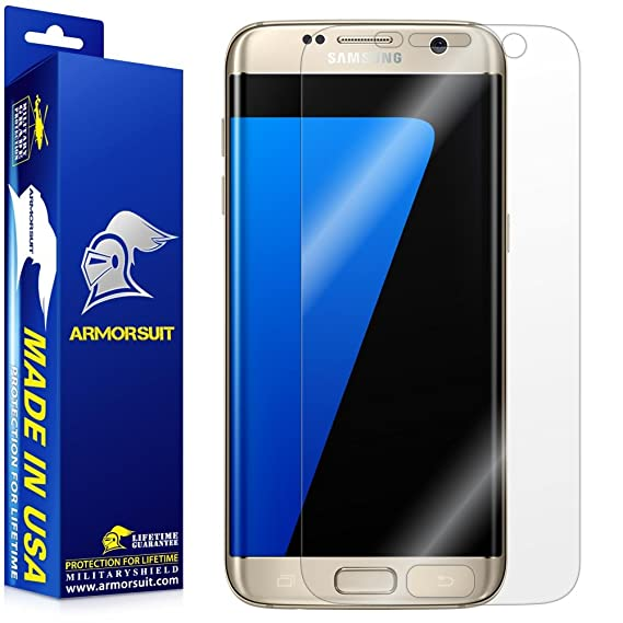 ArmorSuit MilitaryShield Screen Protector for Samsung Galaxy S7 Edge [Max  Coverage] - Anti-Bubble HD Clear Film