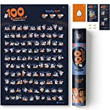 Wall Poster Kama Sutra #100 BUCKETLIST - Scratch Off Sex Positions - Modern Adult Love Game - Decorate Your Home - Enjoy And Have Fun - 16x24 in