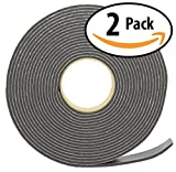 3M Camper Mount Foam Tape 3/16in x 1 1/4in x 30ft Black (2 Pack) for Truck Shells, Cars, Boats & Home. Cushions Against Vibrations, Scratches & Squeaks. Seals Around Air Conditioners, Doors & Windows.