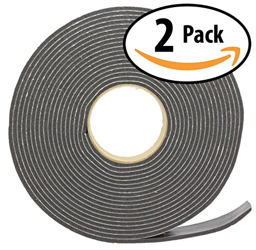 3M Camper Mount Foam Tape 3/16in x 1 1/4in x 30ft Black (2 Pack) for Truck Shells, Cars, Boats & Home. Cushions Against Vibrations, Scratches & Squeaks. Seals Around Air Conditioners, Doors & (Camper Foam)