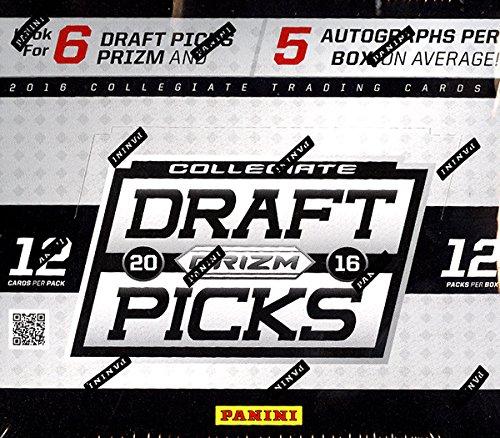2016 Panini Prizm Collegiate Draft Picks Football Hobby (Picks Football Box)
