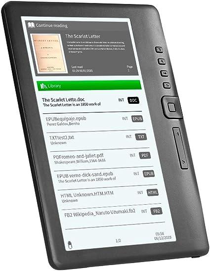 Godyluck- BK7019 Lector de Libros electrónicos portátil 16GB 7 Pulgadas Multifunción E-Reader Retroiluminación Color LCD Pantalla de visualización: Amazon.es: Electrónica
