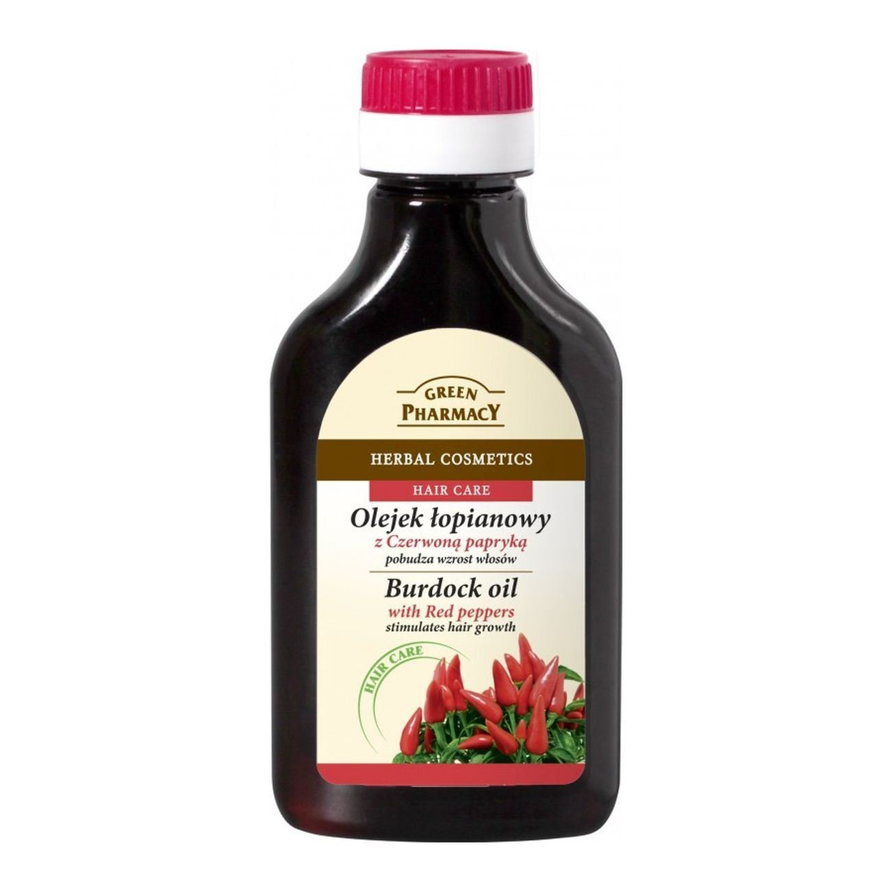 Green Pharmacy - Aceite anticaida estimulador del crecimiento con Bardana y Pimiento Rojo 100ml: Amazon.es: Salud y cuidado personal