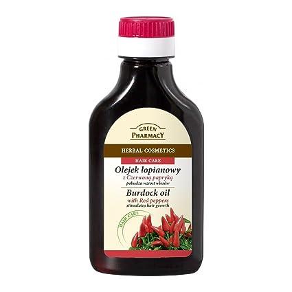 Green Pharmacy - Aceite anticaida estimulador del crecimiento con Bardana y Pimiento Rojo 100ml