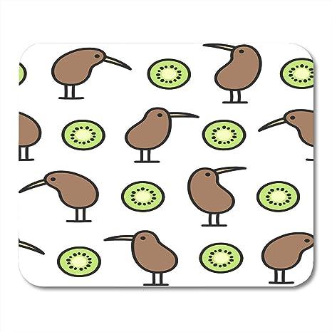 Amazoncom Vankine Mouse Pads Brown Zealand Of Kiwi Birds