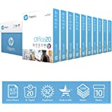 HP Printer Paper   8.5 x 11 Paper   Office 20 lb  10 Ream - 5,000 Sheets   92 Bright   Made in USA - FSC Certified   112101C