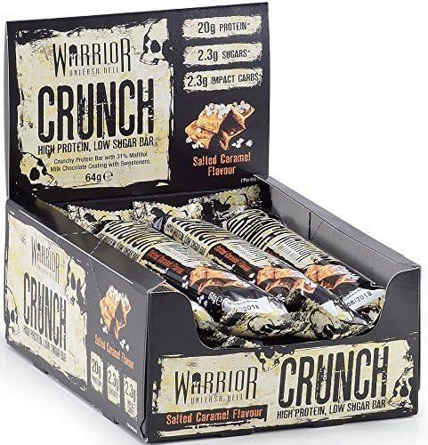 Warrior Crunch Bar Diät Protein Riegel Proteinbar Eiweiß Eiweißriegel 12x64g (Milk Chocolate Coconut - Milch Schokolade...