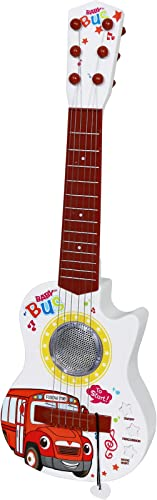 Kiddie Play Electric Toy Ukulele Guitar for Kids with Lights and Music