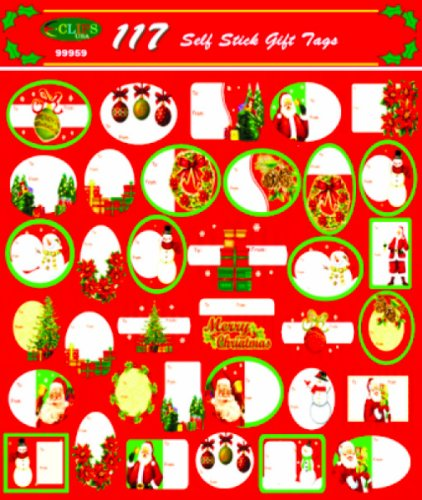 Christmas Gift Tags - 117 Assorted Designs [72 Pieces] - Product Description - Xmas Gift Tags - 117 Assorted Designs - Self Seal - Easy To Use. - Very Good Quality. ... by BIMS