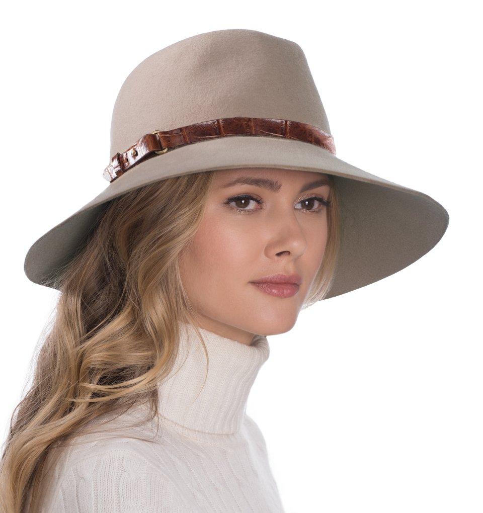 Eric Javits Luxury Fashion Designer Women's Headwear Hat - Fanny - Taupe