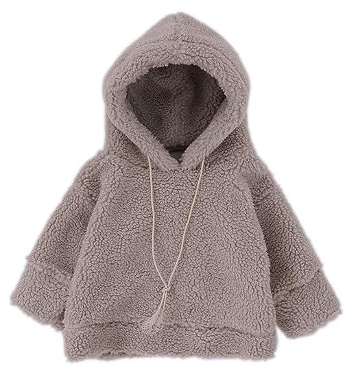 91f1678f2 Amazon.com  MaxKids Toddler Girls Sherpa Pullover Hooded Sweatshirt ...