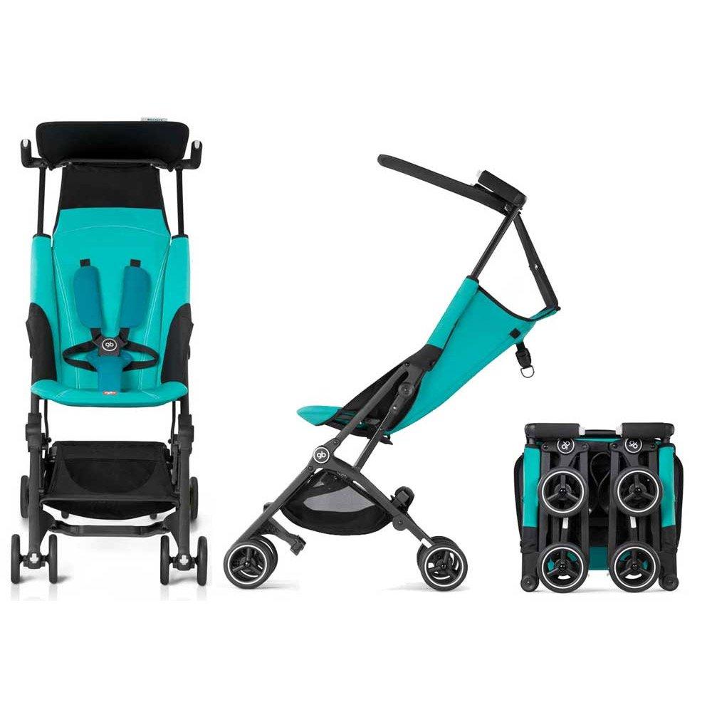 GB Pockit PLUS Stroller / multi-adjustable backrest / Light Traveler / from 6 Mo.-4Y. Capri Blue-turquoise
