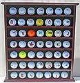49-Golf Ball Display Case Cabinet Rack, No Door, Mahogany Finish GB20-MAH