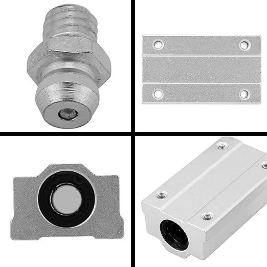 Akozon 2Pcs 8mm bloc de glissi/ère de roulement /à billes de mouvement lin/éaire en aluminium pour la commande num/érique par ordinateur