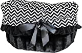Snuggle Bug Reversible Dog Carrier/Bed (Black Chevron)
