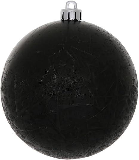 Amazon Com Vickerman 4 Black Crackle Ball Uv Ornament 6 Per Bag Home Kitchen
