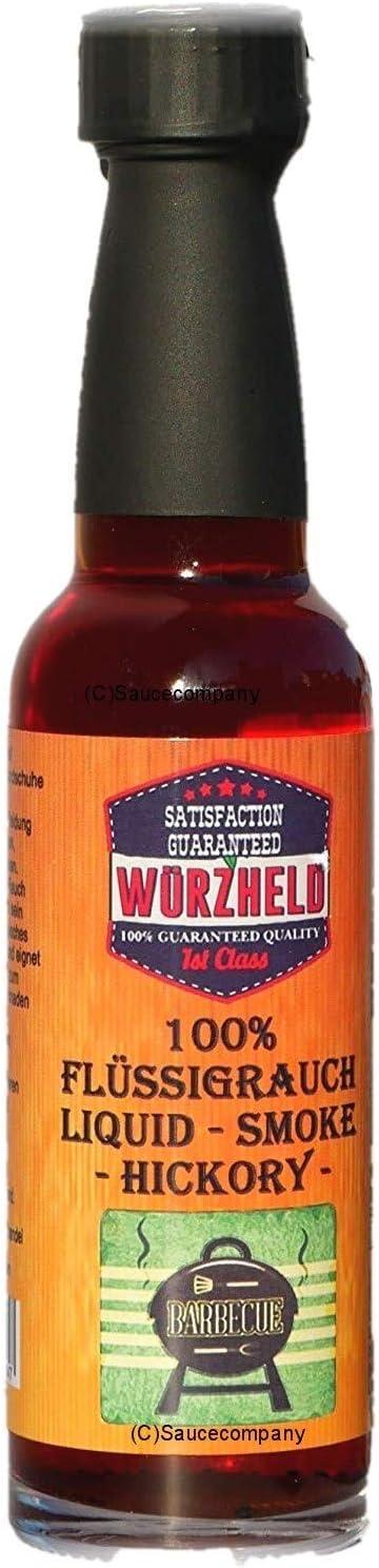 humo líquido Hickory 100% marca Würzheld - 100ml con dosificador