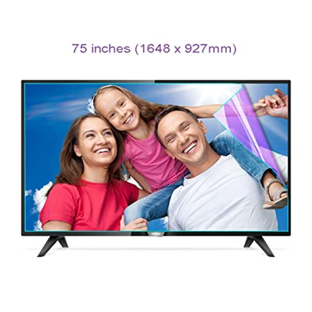 WTTO 75 Pulgadas Protector De Pantalla De TV, Antiazul Filtro ...
