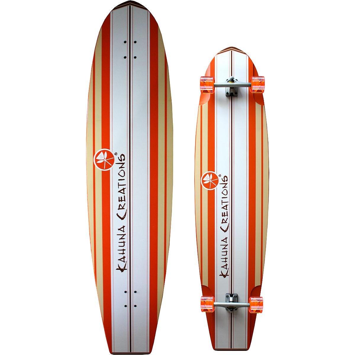 Kahuna Creations Bombora Coral Ultra Longboard, Orange, 59'' x 14''