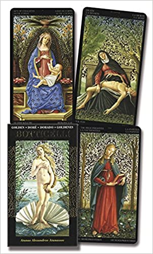 Golden Botticelli Tarot (English, Spanish, French, German ...