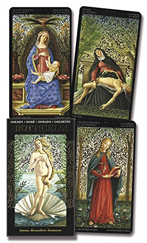 Golden Botticelli Tarot (English, Spanish, French, German and Italian Edition)