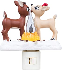 Rudolph the Red Nosed Reindeer Night Light with Flickering Flame, 5 1/4 Inch